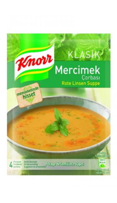 KNORR MERCIMEK CORBASI 76 GR (potage de lentille rouge)