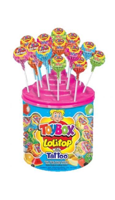 TOYBOX LOLITOP SAKIZLI (sucette avec chewing-gum)