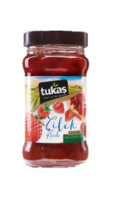 TUKAS RECEL CILEK 320 CC 380 GR (confiture de fraises)