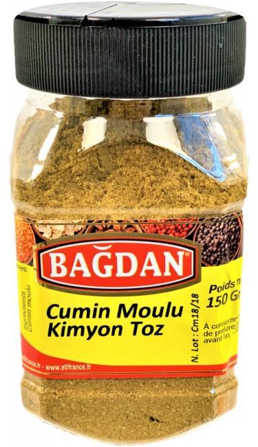 BAGDAN KIMYON TOZ PET KAVANOZ 12x150gr (cumin moulu pot plastique)