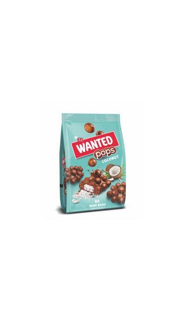 ETI WANTED POPS COCOS MINI 126 GR (chocolat soufflée coeur fondant noix de coco)