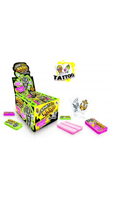 X-TREME JOHNY BEE RADIO ACTIV GUM 200 PIECES (chewing-gum tatoos)