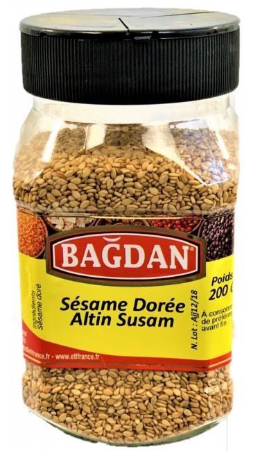 BAGDAN SUSAM PET KAVANOZ 12x200gr (sesame doré pot plastique)