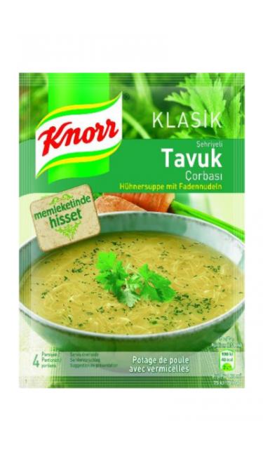 KNORR SEHRIYELI TAVUK CORBASI 65 GR (potage au poulet et vermicelle)
