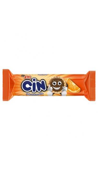 ETI CIN PORTAKAL 102 GR (biscuit nappés de gelée d'orange et vermicelles de chocolat)
