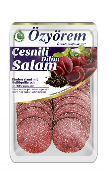 OZYOREM CESNILI DILIM SALAM 80 GRr ( tranches de salami épicés)