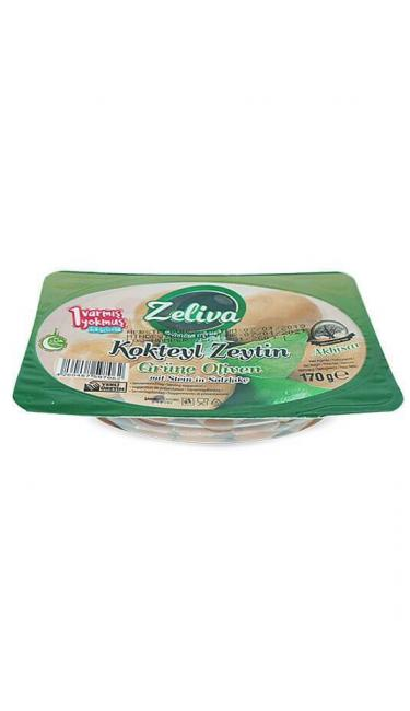 ZELIVA YESIL ZEYTIN KOKTEYL AKHISAR 170Gr (olives noires)