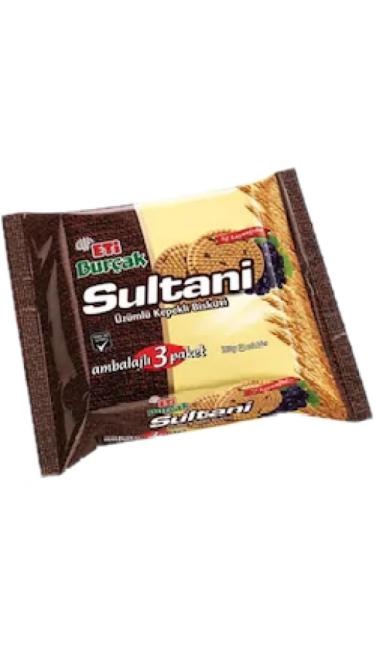 ETI BURCAK SULTANI 369 GR (biscuit au blé complet et raisin)