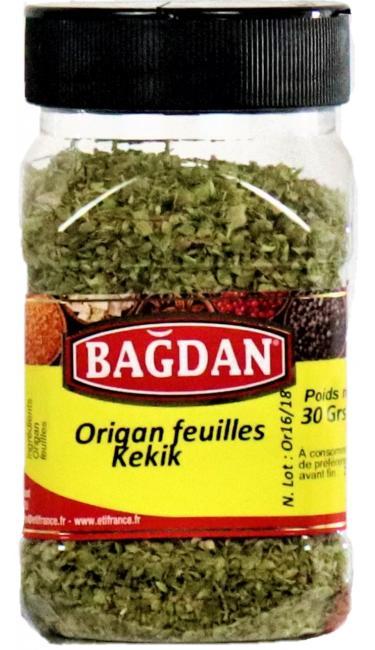 BAGDAN KEKIK YAPRAGI PET KAVANOZ 12x30gr (origan feuilles pot plastique)