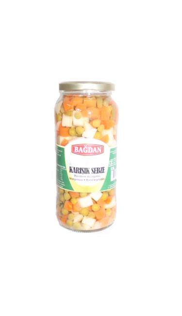 BAGDAN HASLANMIS KARISIK SEBZE - GARNITURE CAM KAVANOZ  (macedoine de legumes)