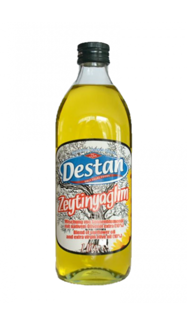 DESTAN ZEYTINYAGLIM 1000 ML (huile 10% olive- 90% tournesol)