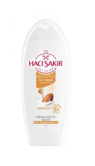 HACISAKIR SAMPUAN 2 in1 BADEM (shampooing 2 en1 au lait d'amande)