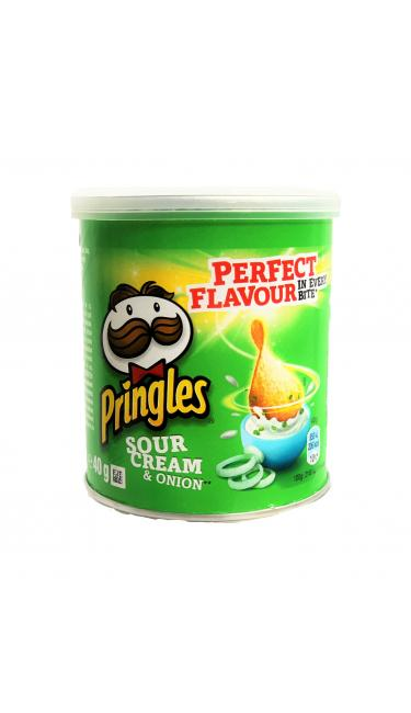 PRINGLES MINI ONION/CREAM 12X40GR