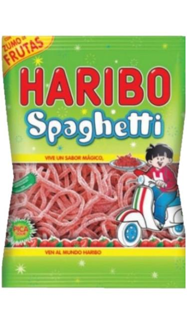 HELAL HARIBO SPAGHETTI 80 GR JELATINSIZ  (bonbons spaguetti fraise sans gélatine)