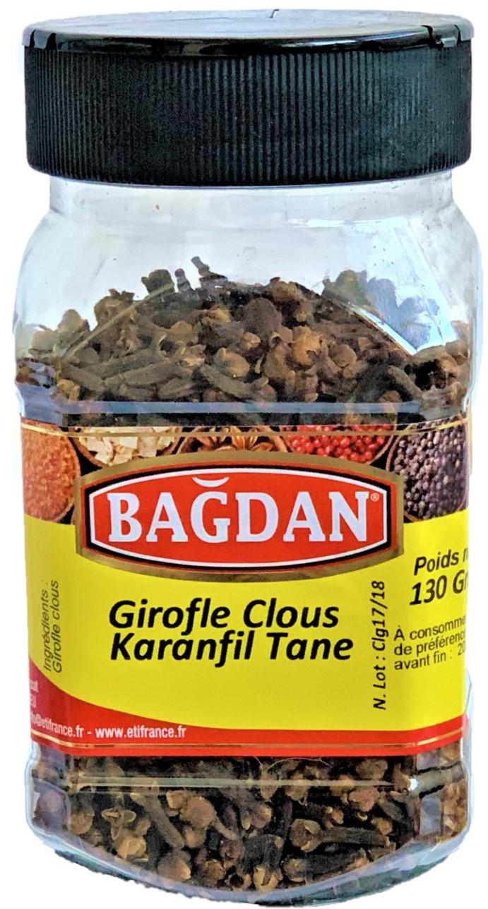 BAGDAN KARANFIL PET KAVANOZ 12x130gr (girofle clous entier pot plastique)