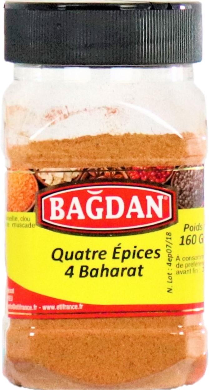 BAGDAN KIYILMIS 4 BAHARAT PET KAVANOZ 12x160gr (4 epices moulues pot plastique)