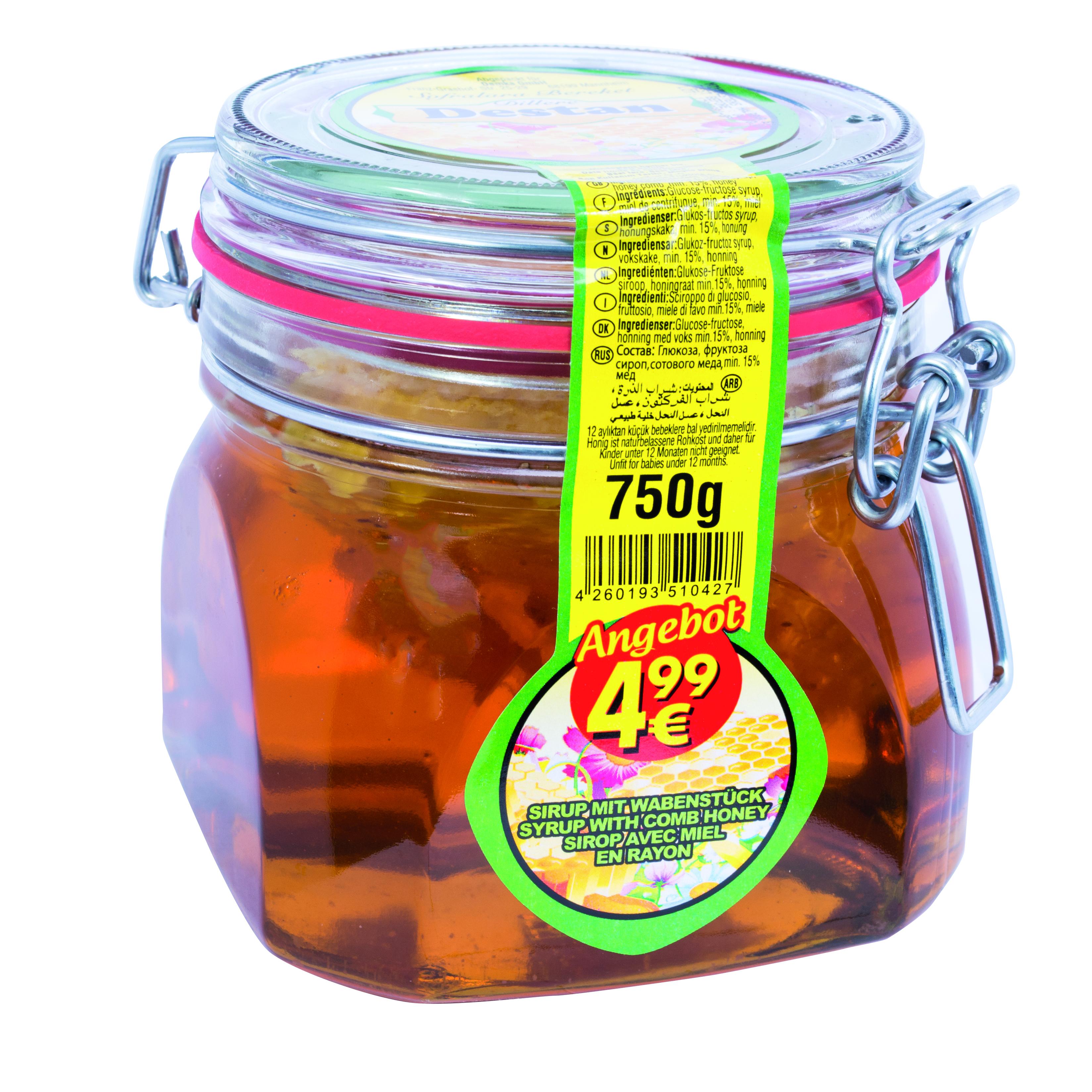 DESTAN BAL PETEKLI 750 GR (miel avec son alvéole)