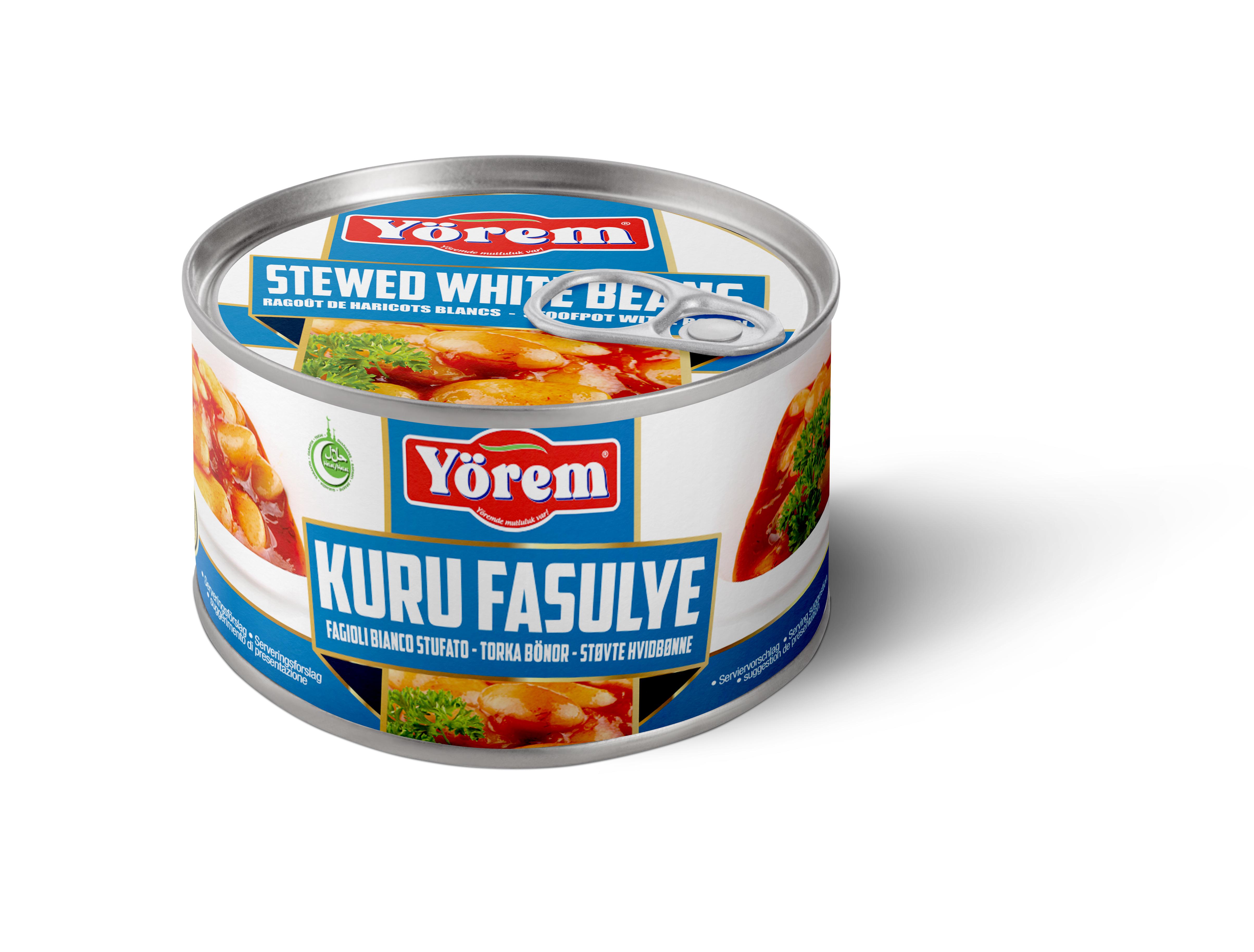 YOREM KURU FASULYE PILAKI TNK 12x400G (haricots blancs en sauce pilaki)