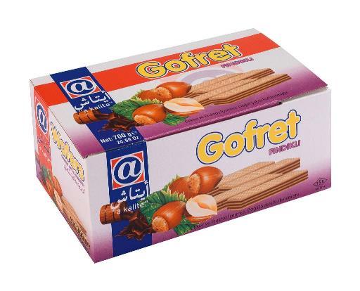 GOFRET FINDIKLI 550 G (gaufrette noisettes)