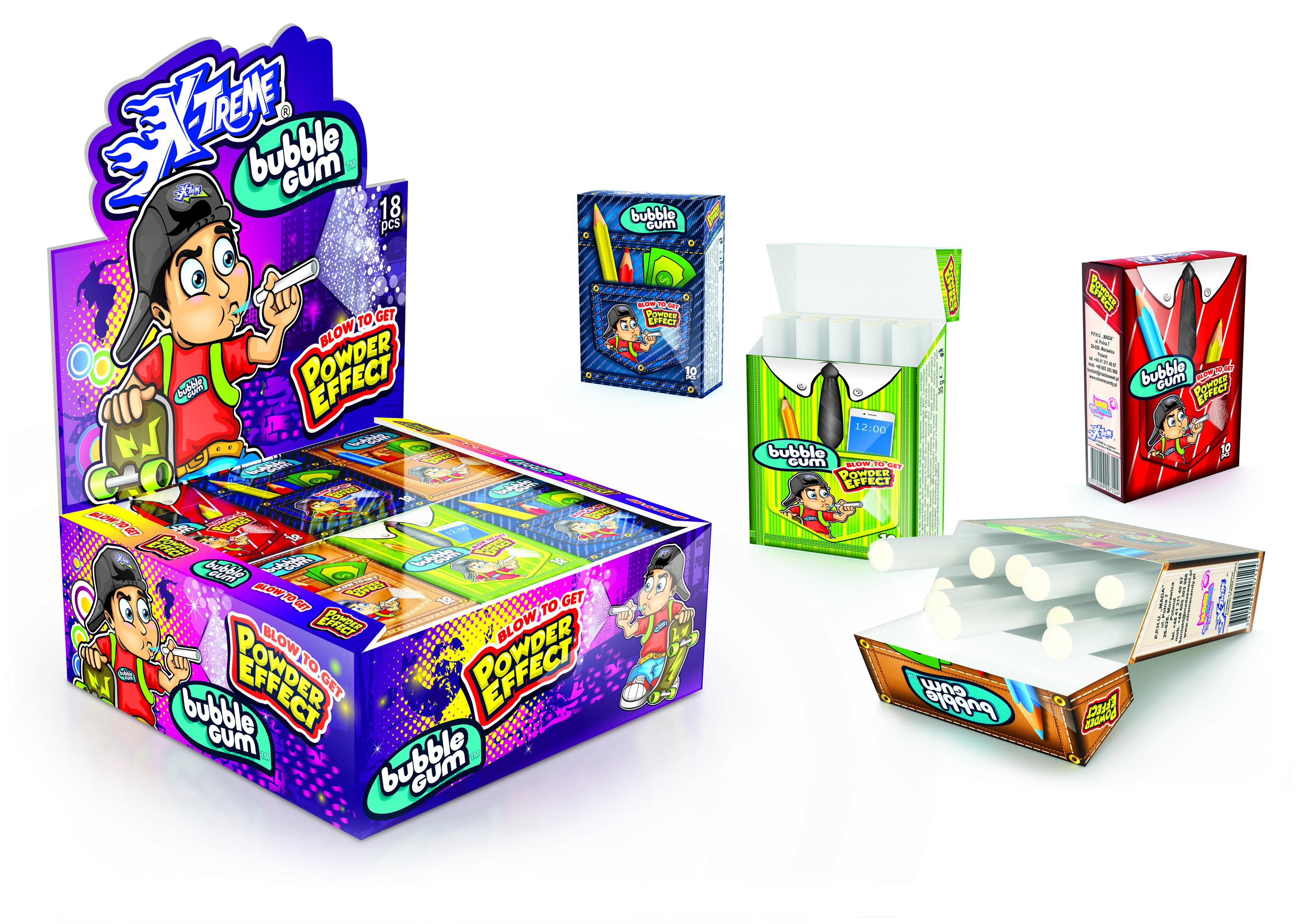 X-TREME BUBBLE GUM+POWDER EFFECT (chewing-gums cigarette)