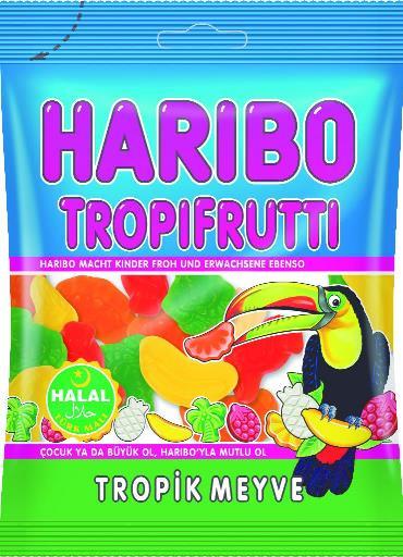 HELAL HARIBO TROPPI FRUTTI 100 GR (bonbons gout tropical)