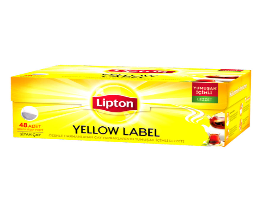 LIPTON YELLOW LABEL DEMLIK POSET 48'ER 153 gr (dosette de the turc)
