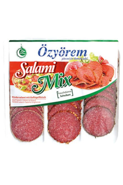 OZYOREM SALAMI MIX 100 GR (PROMO) ( mini tranche de salami mix )