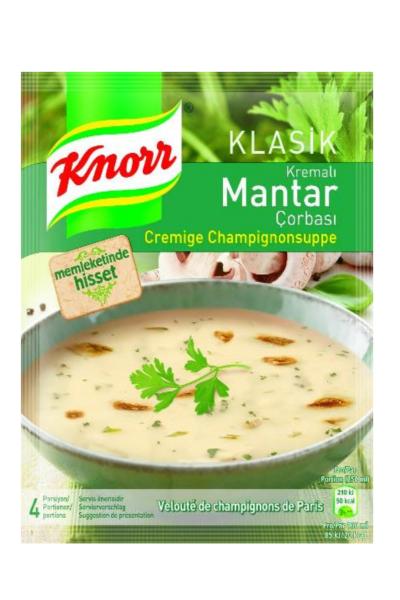 KNORR KREMALI MANTAR CORBASI 65 GR (soupe champignon a la creme)