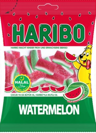 HELAL HARIBO WATERMELON 80 GR ( Pasthèque )