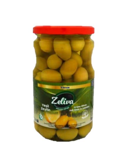 ZELIVA YESIL ZEYTIN 400 GR 720 CC (olives vertes)