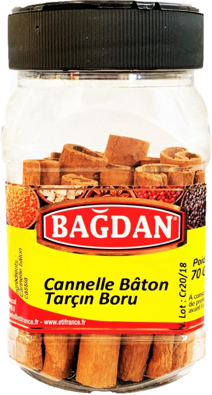 BAGDAN TARCIN CUBUK PET KAVANOZ 12x70gr (cannelle baton pot plastique)